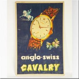 Publicité cartonnée à décor de montre