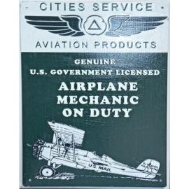 Plaque émaillée aviation