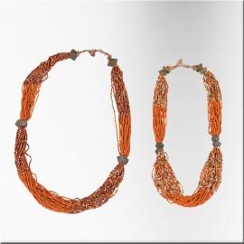 Collier tibétain en perles de verre
