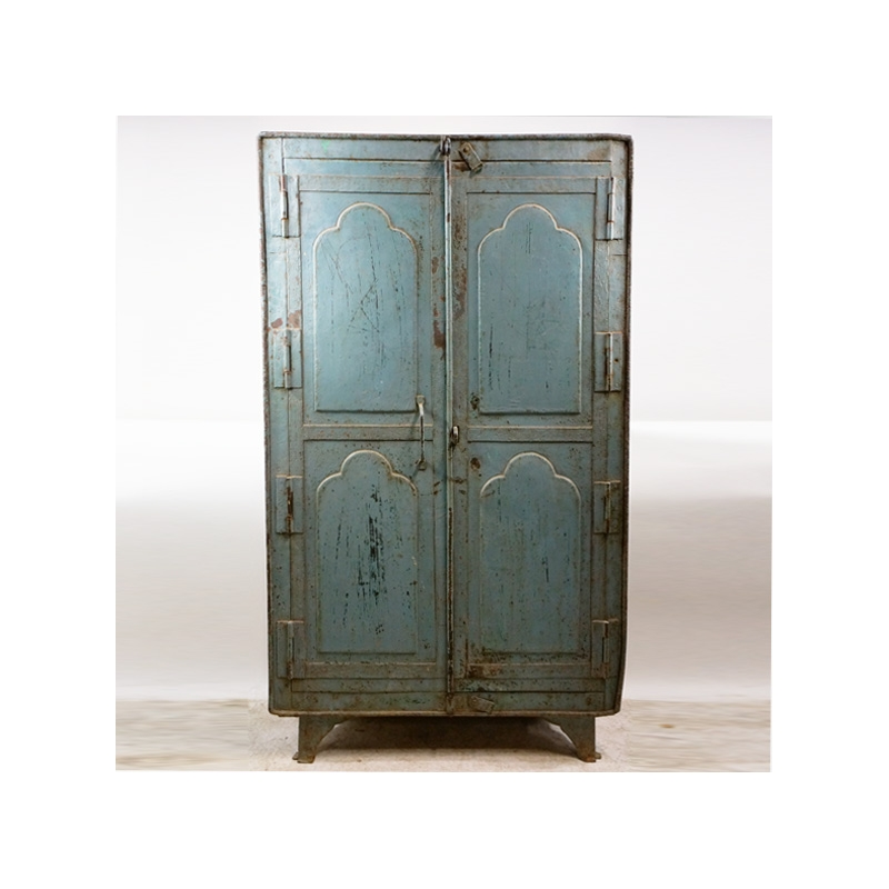 armoire 2 portes en fer laqu bleu jdeco marine groupe jd production. Black Bedroom Furniture Sets. Home Design Ideas