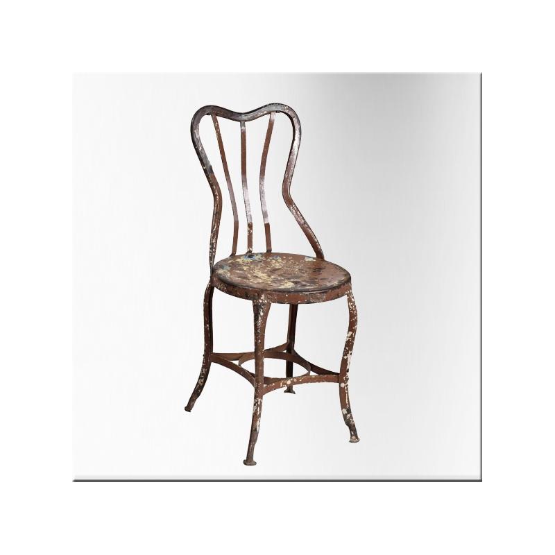 Chaise de jardin en fer jdeco marine groupe jd production - Chaise de jardin en fer ...