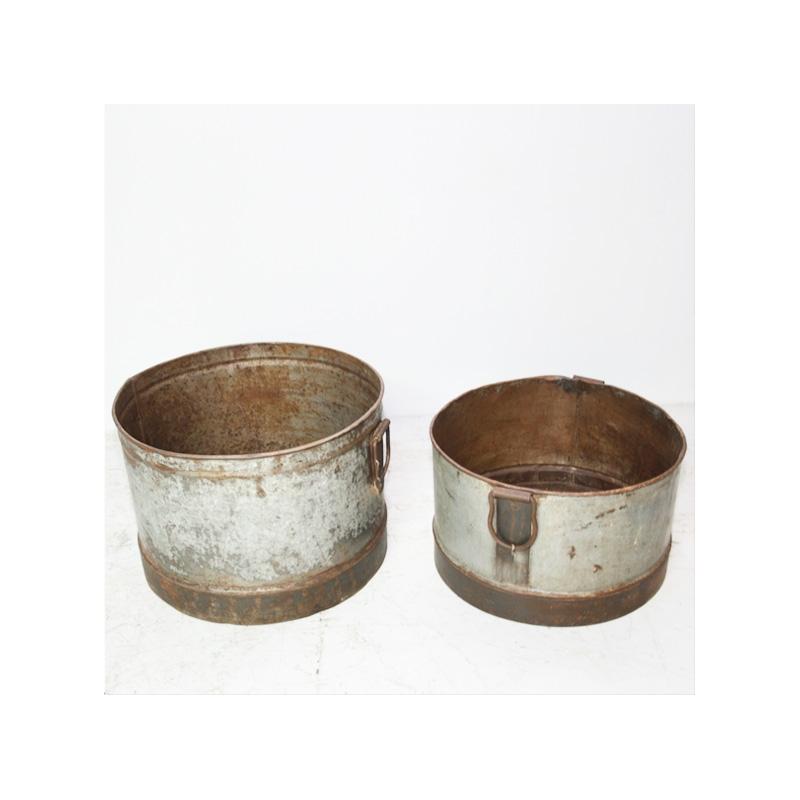 Cache pot en zinc et fer jdeco marine groupe jd production - Cache pot en zinc ...
