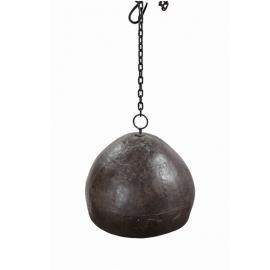 Abat-jour en fer martelé avec chaine