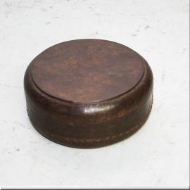 Boite ronde en fer à couvercle pour chapatis