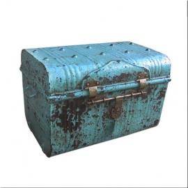 Valise en fer laquée bleu