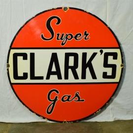 Plaque émaillée 'CLARK'S'