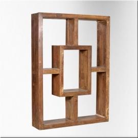 Art Déco teakwood book rack