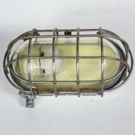 Iron oval wall lamp