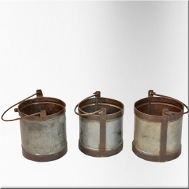 Iron and zingue bucket