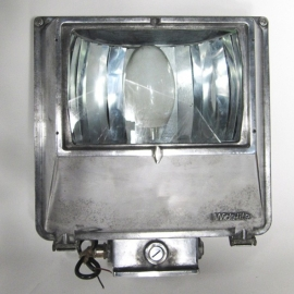 Aluminium square wall lamp