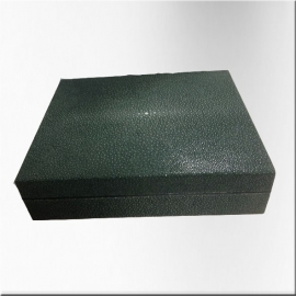 Stingray wooden box - deep green