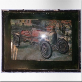 Racing car photo frame
