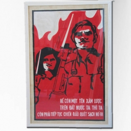 Orignial poster from viet propaganda with frame