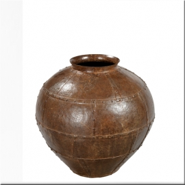 Riveted iron jar