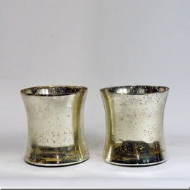 Vases (Pair of) in 'églomisé' glass