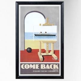 Affiche COME BACK originale paquebot FRANCE