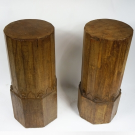 Colonnes (paire de) en bois