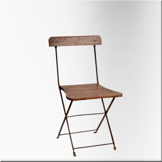Iron and wooden stick chair