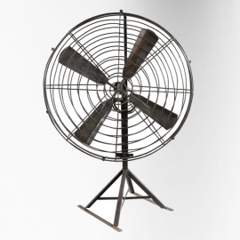 Crank fan (big size) on aluminium feet