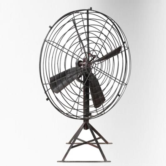 Ventilateur (grand modèle) sur pied aluminium avec manivelle