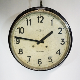 Black wooden bar clock