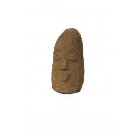 Anthropomorphic sandstone monolith depicting a male face, Mali