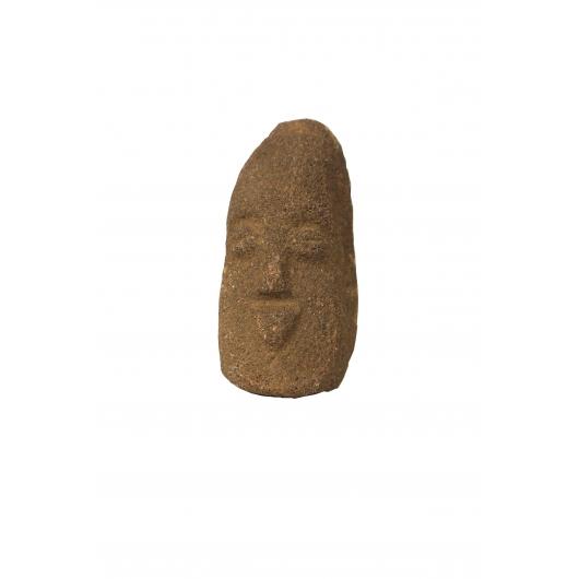 Visage masculin en pierre, Guinée, Peuple Kissi