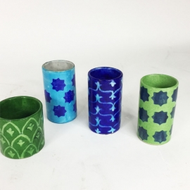 Earthenware painted mug
