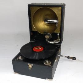 Gramophone in his box