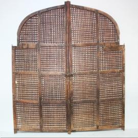 Grandes portes en teck et bambou (Pair of)