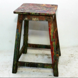 Painter's teak stool