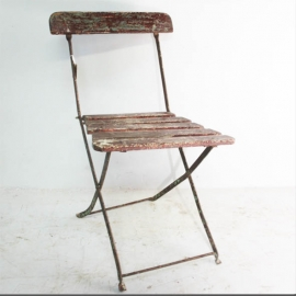 Folding chair in twisted iron