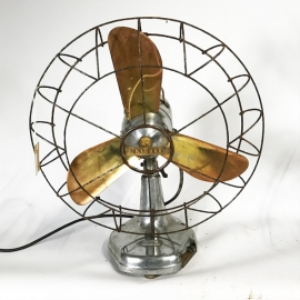 Ventilateur de table 3 pales laiton