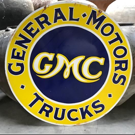 Plaque émaillée (très grand modèle) 'GMC'