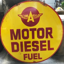 Enamelled plate (very large model) 'MOTOR DIESEL'