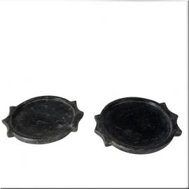 Sous-plat rond en marbre noir XIXème S.