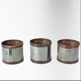 Cache-pot en zinc et fer