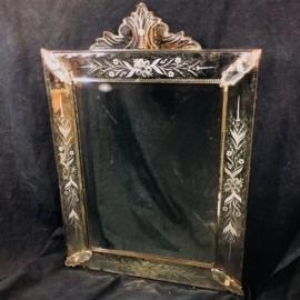 Miroir rectangulaire à facettes biseautées