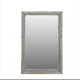 Miroir rectangulaire en teck laqué gris