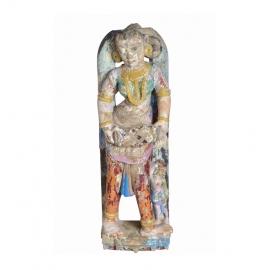 Statue en pierre, danseuse - Inde XVIIIème S.