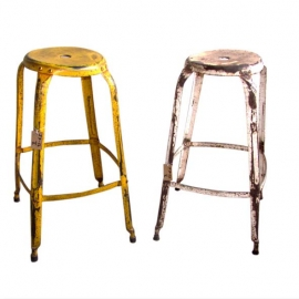 Lacquered iron stool