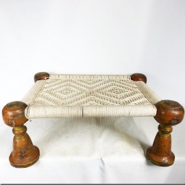 Wood and rope seat