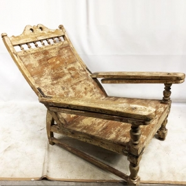 Wooden planter armchair