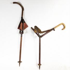 Folding cane stool