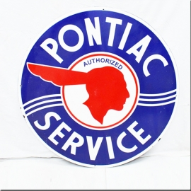 Enamelled plate 'PONTIAC'