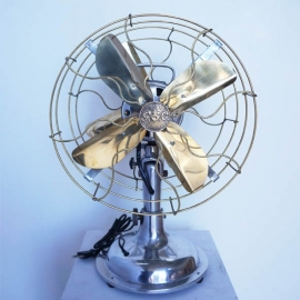 Aluminium and brass double fan