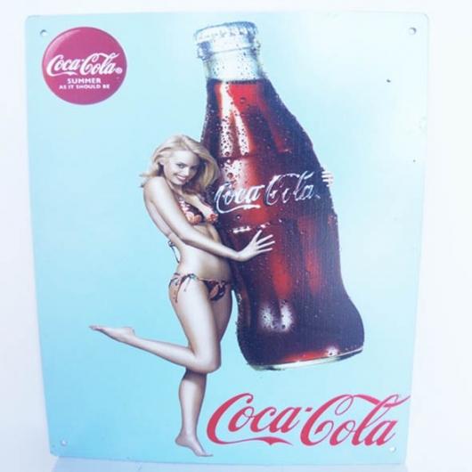 Vintage Coca Cola enamel plate