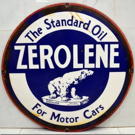 Round enamelled plate ZEROLENE
