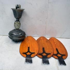 Ventilateur plafonnier en fonte 3 pales bois