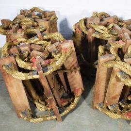 Echelle de bateau cordage et bois